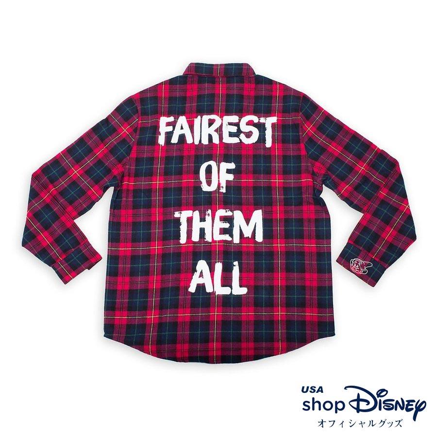 お取り寄せ ディズニー Disney US公式 レディース メンズ兼用 白雪姫 フランネルシャツ チェックシャツ Cakeworthy