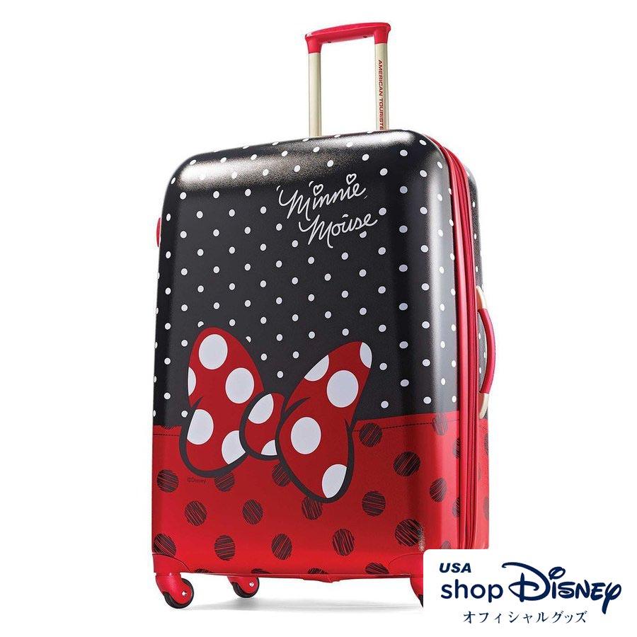お取り寄せ ディズニー Disney US公式 ミニーマウス キャリーバッグ スーツケース Lサイズ アメリカンツーリスター