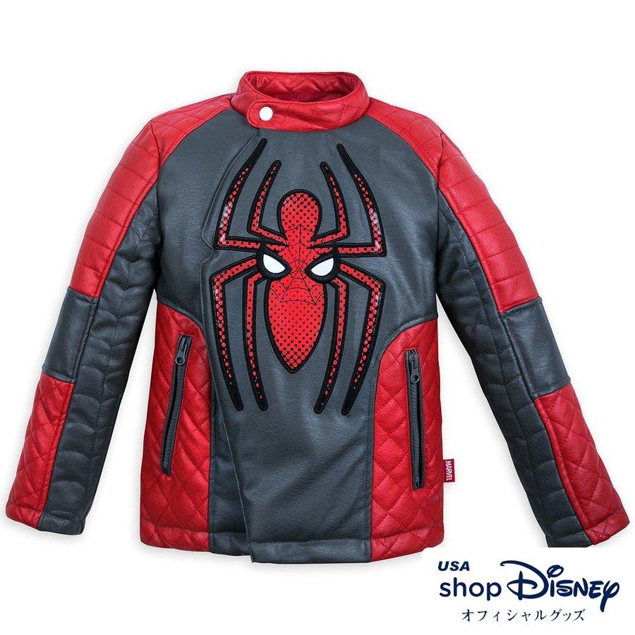 マーベル Marvel US公式 キッズ 男の子 女の子 スパイダーマン レザー ジャケット
