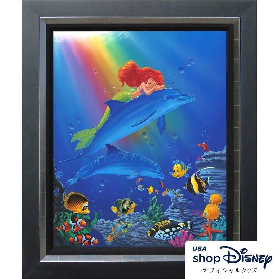 ディズニー Disney アリエル リトルマーメイド アートフレーム 限定版 Manuel Hernandez ギフト プレゼント