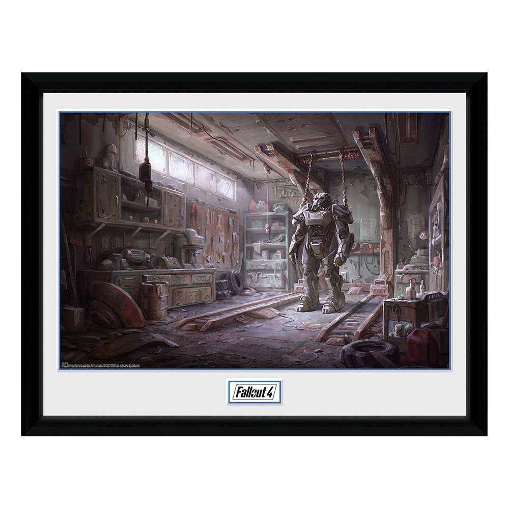 Fallout 4 フォールアウト グッズ アートフレーム フォトフレーム コンセプトアート レッドロケット インテリア