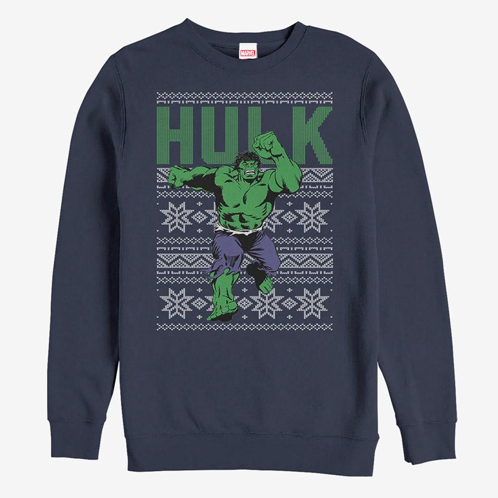 マーベル Marvel レディース メンズ兼用 ハルク クリスマス スウェットシャツ