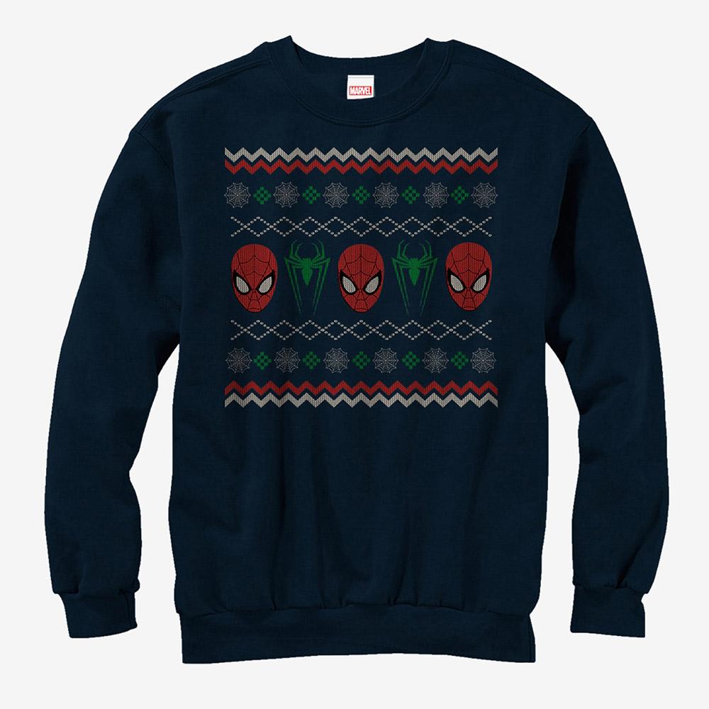マーベル Marvel レディース メンズ兼用 スパイダーマン クリスマス スウェットシャツ