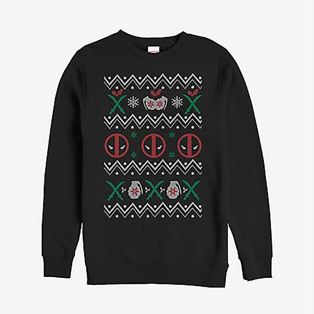 マーベル Marvel レディース メンズ兼用 デッド プール クリスマス スウェットシャツ