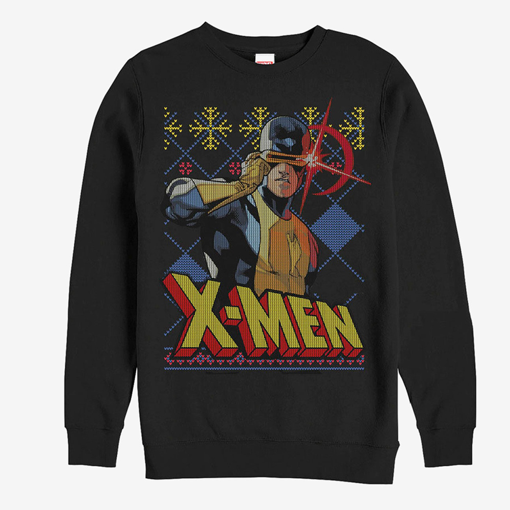 マーベル Marvel レディース メンズ兼用 サイクロプス Xメン クリスマス スウェットシャツ