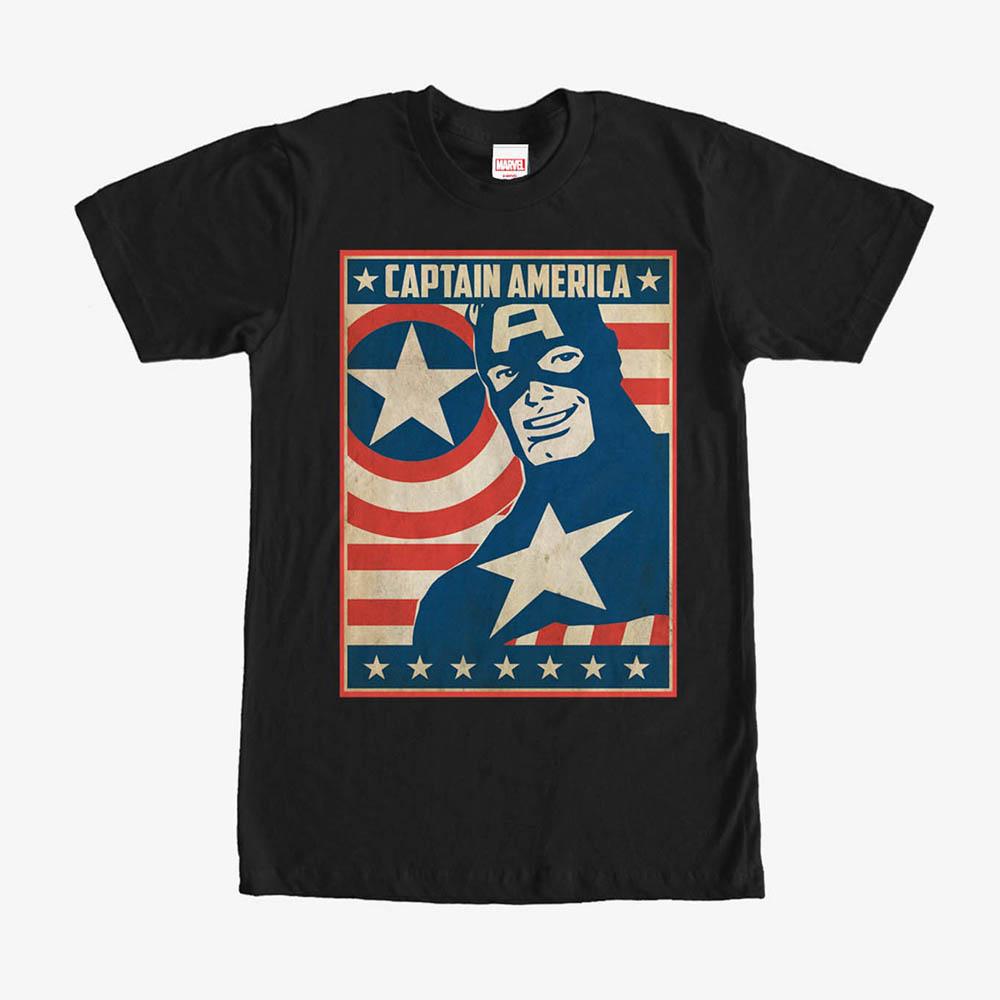 海外限定 マーベル Tシャツ キャプテンアメリカ 感謝価格 Marvel レディース メンズ兼用 半袖 本日限定