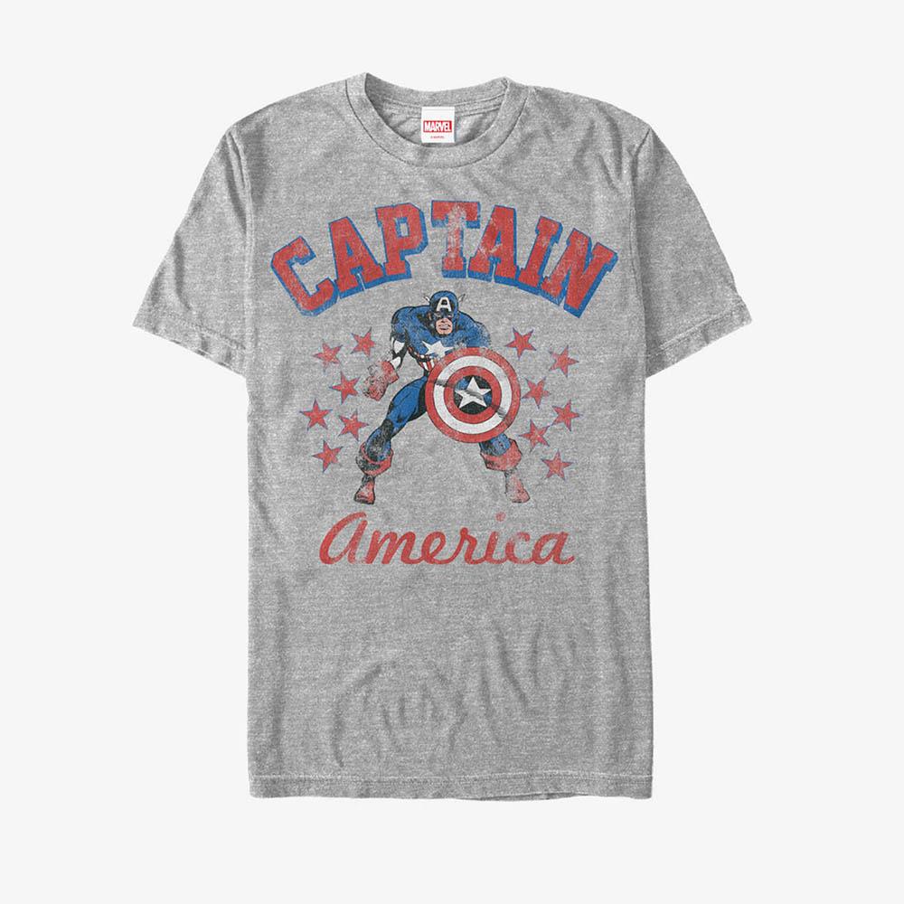 海外限定 マーベル Tシャツ キャプテンアメリカ Marvel メンズ兼用 半袖 上質 レディース 新品未使用