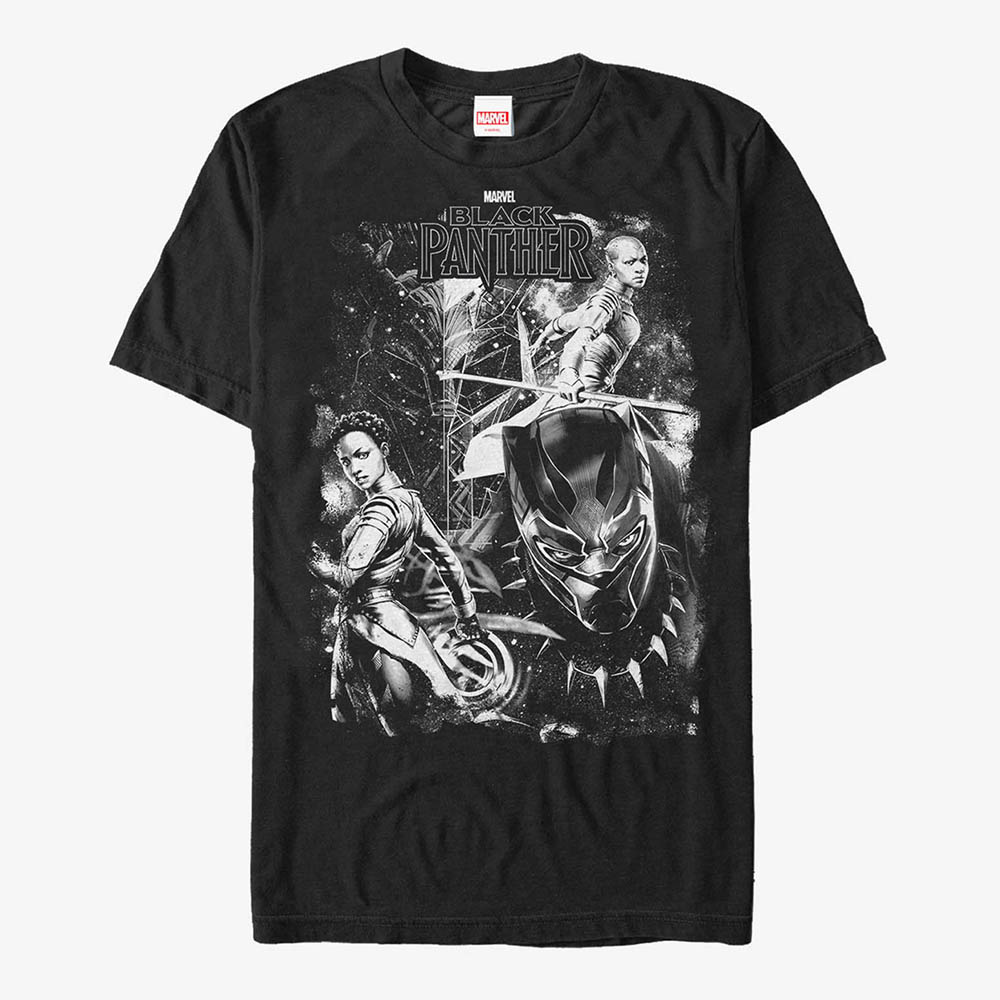 海外限定 マーベル Tシャツ 買い物 ブラックパンサー 半袖 レディース Marvel お歳暮 メンズ兼用