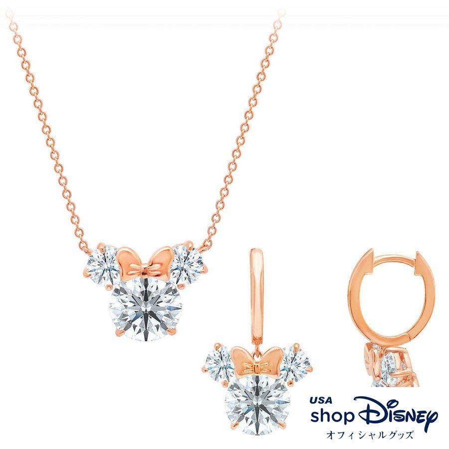 ディズニー Disney ミニーマウス ネックレス ピアス セット レディース ギフト プレゼント