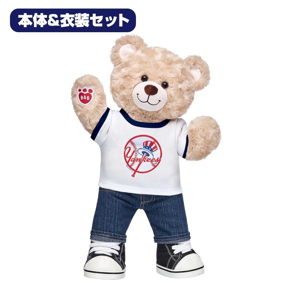 ダッフィー MLB ヤンキース ティディベア ぬいぐるみ 本体 衣装 セット ビルドアベア ギフト プレゼント