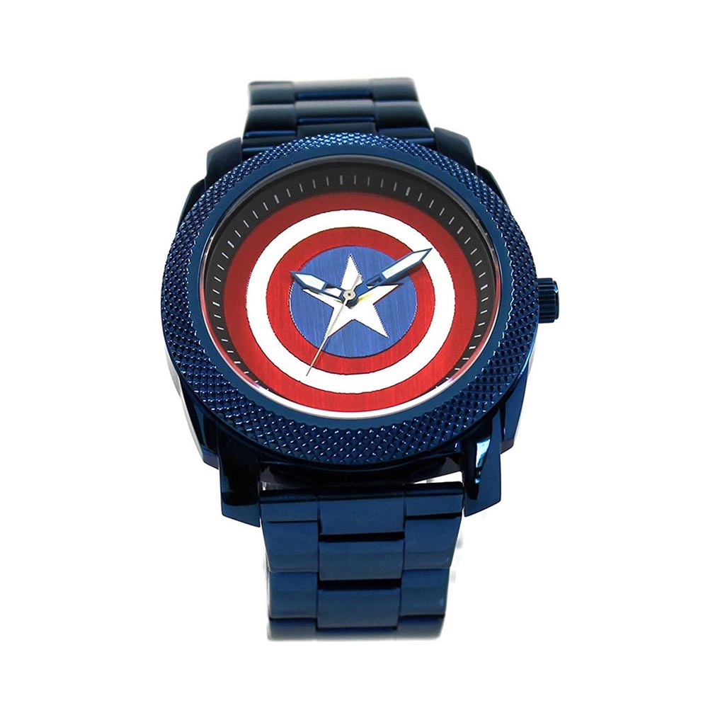 マーベル Marvel キャプテンアメリカ 腕時計 ステンレス ベルト レディース メンズ ギフト プレゼント