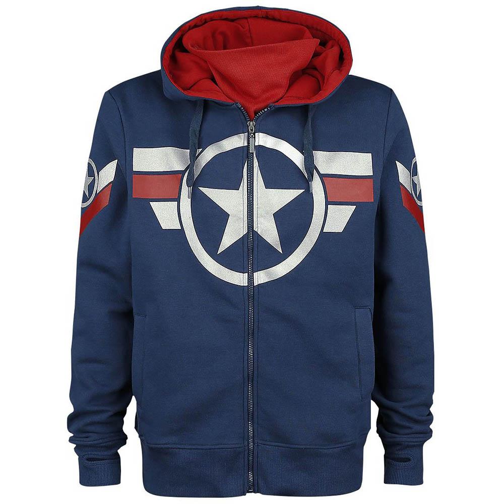 マーベル Marvel キャプテンアメリカ パーカー フーディー ジップアップ レディース メンズ