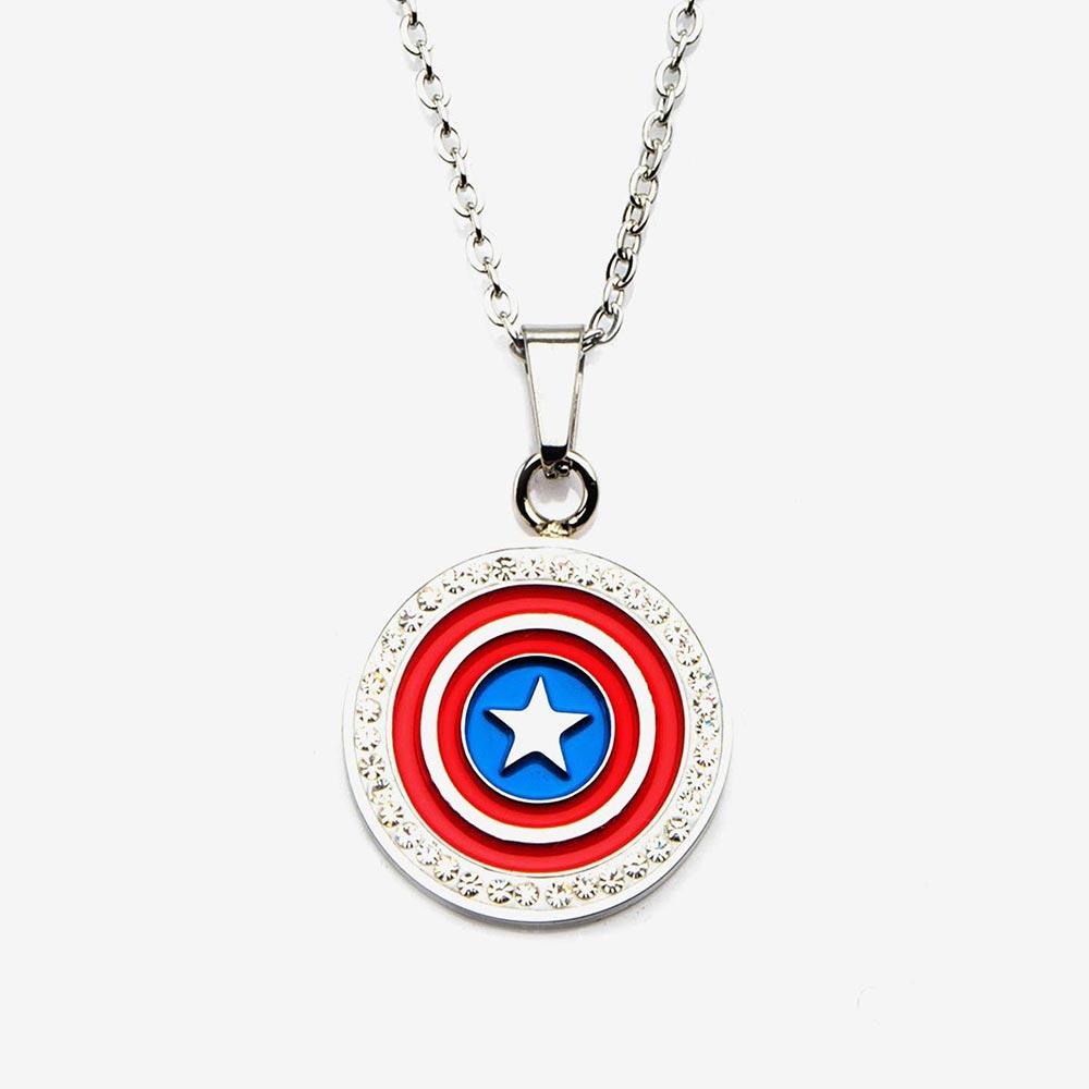マーベル Marvel キャプテンアメリカ ペンダント ネックレス レディース メンズ