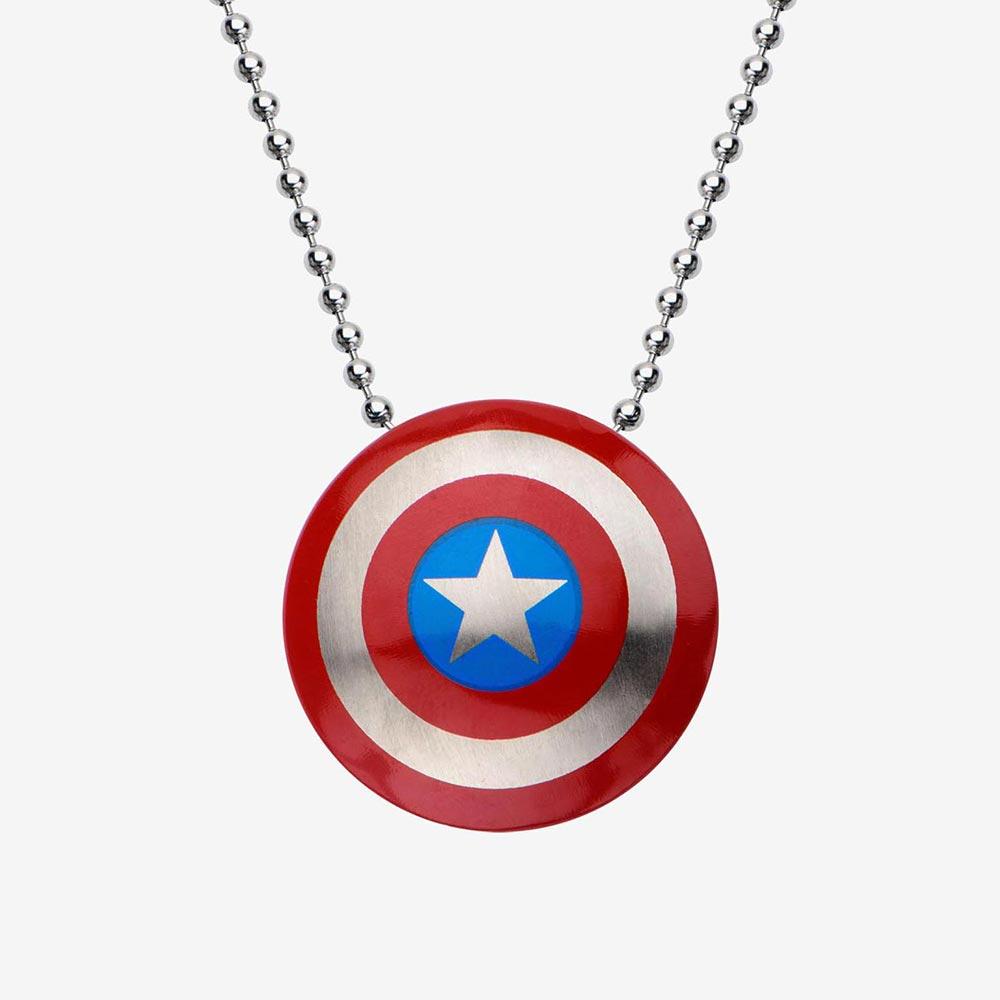 キャプテンアメリカ グッズ マーベル Marvel ペンダント ネックレス レディース メンズ