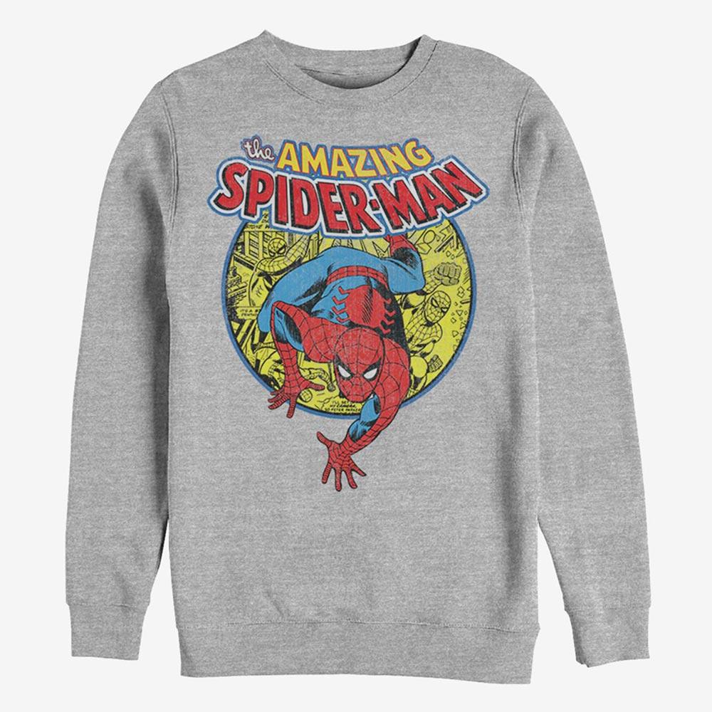 USA限定マーベルグッズ 国内未展開アイテム スパイダーマン スウェット マーベル 完全送料無料 トレーナー 日本最大級の品揃え スウェットシャツ Marvel メンズ レディース