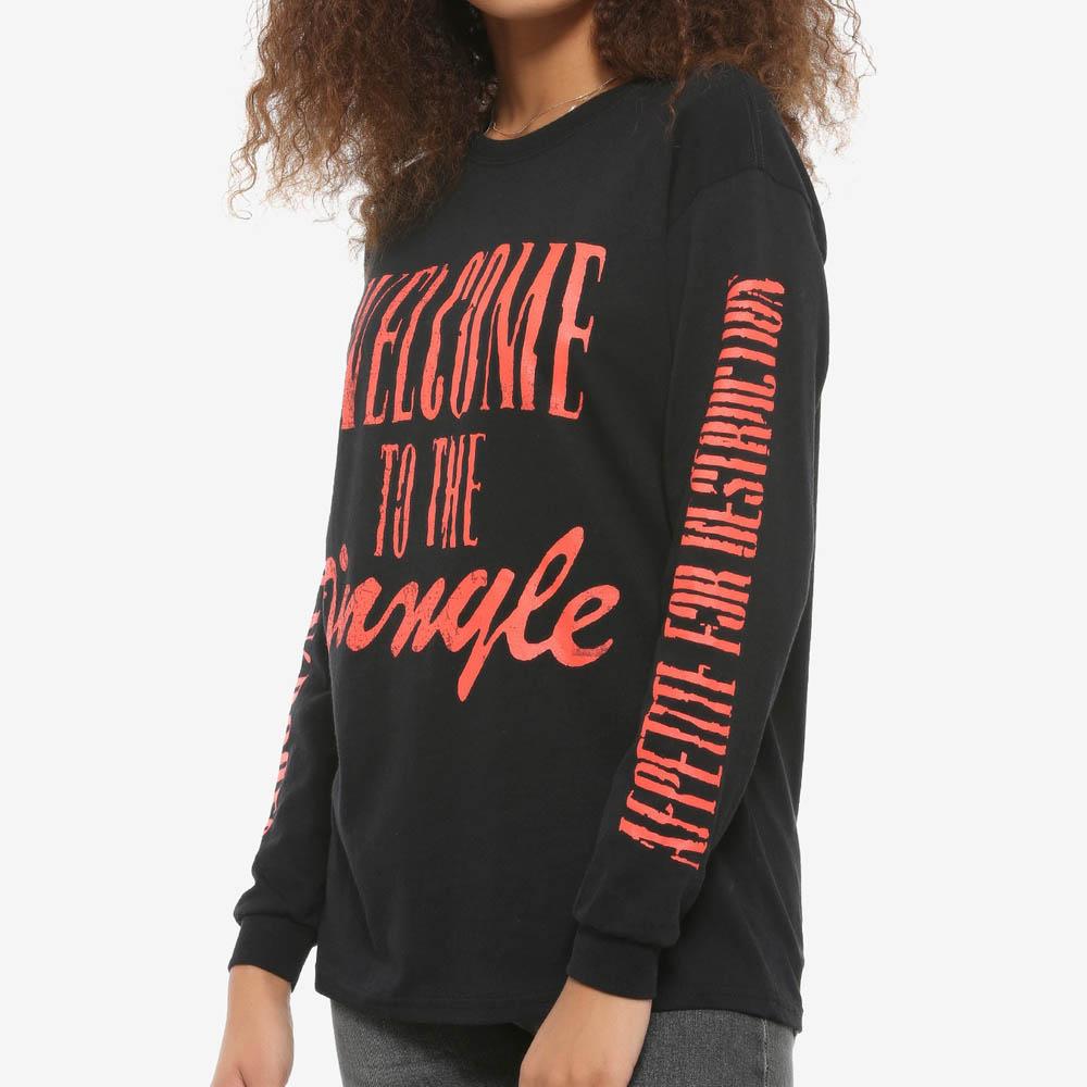 ガンズアンドローゼス Tシャツ Guns N' Roses Welcome To The Jungle Long-Sleeve T-Shirt ガールズ キッズ 女の子 ロック バンドTee