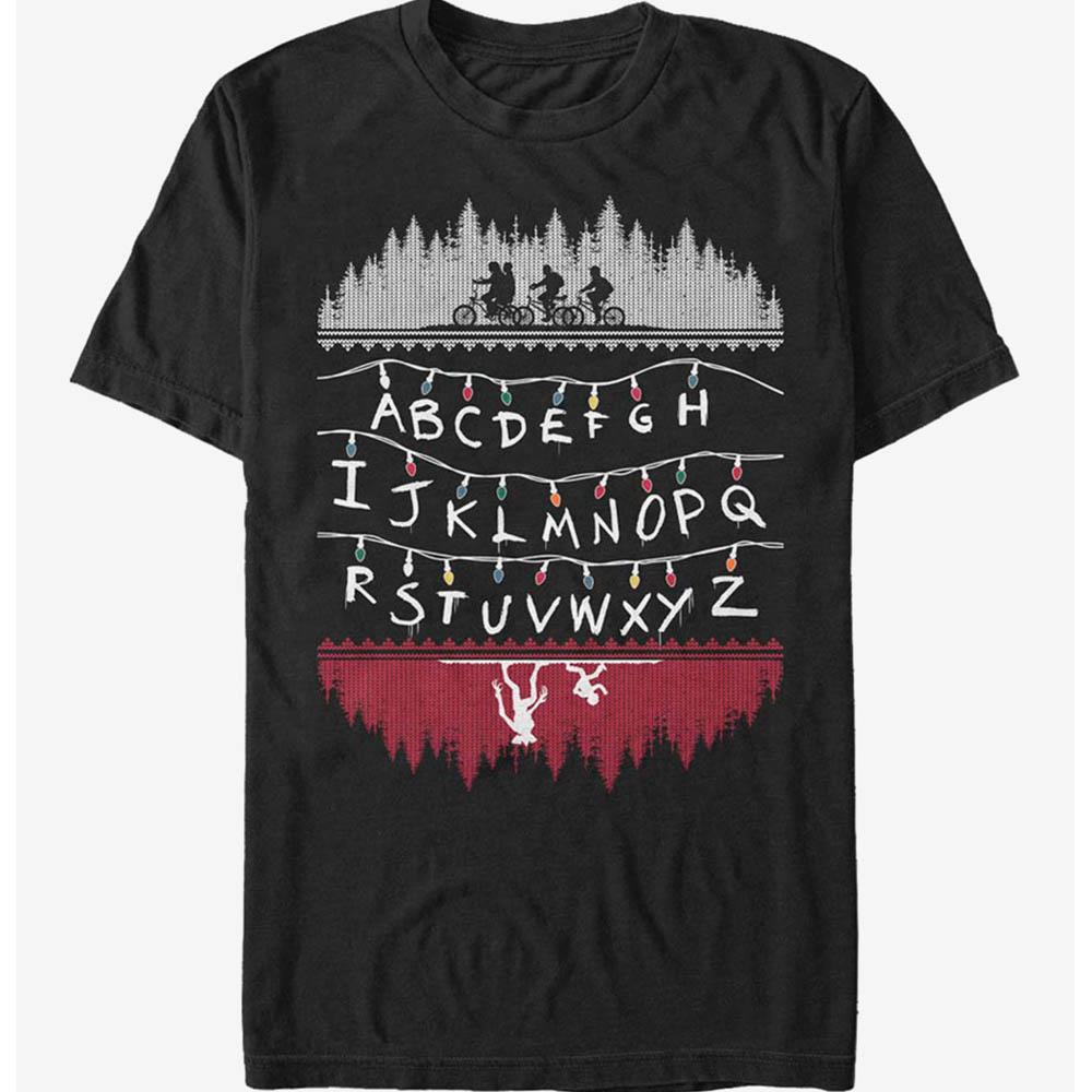 Extra Soft ストレンジャーシングス Tシャツ Stranger Things Alphabet Lights T-Shirt メンズ