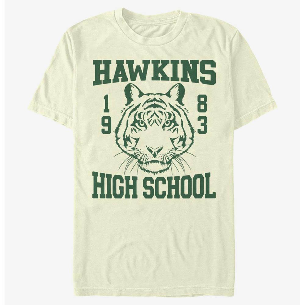 人気海外ドラマ ストレンジャーシングスTシャツ ストレンジャーシングス Tシャツ ファッション通販 Stranger Things Hawkins 1983 メンズ 期間限定の激安セール High T-Shirt Tiger