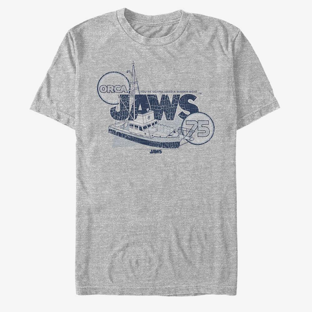海外モデル 映画 ジョーズ Tシャツ 大幅値下げランキング 定番 Jaws ジョウズ メンズ 海外映画 Movie Bigger T-Shirt Boat