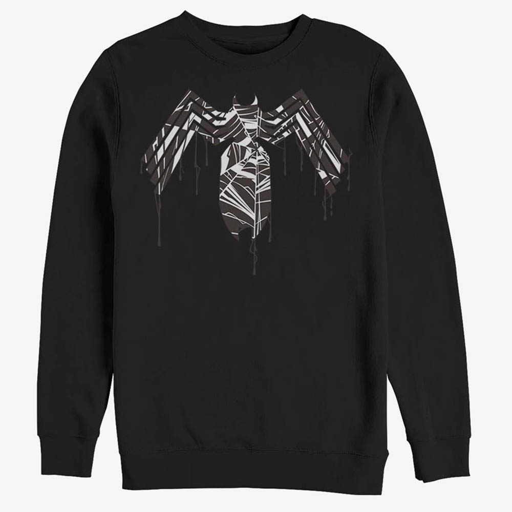 新品 最高にクールなダークヒーロー ヴェノム の海外限定グッズ スウェット マーベル Marvel Venom メンズ 全国一律送料無料 Dripping Sweatshirt Logo