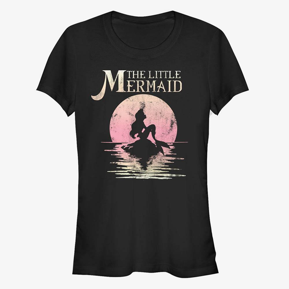 海外モデル リトルマーメイド レディースアパレル アリエル Tシャツ ディズニー Disney キッズ 授与 スーパーセール期間限定 女の子 Little T-Shirt Marmaid Sunset ガールズ