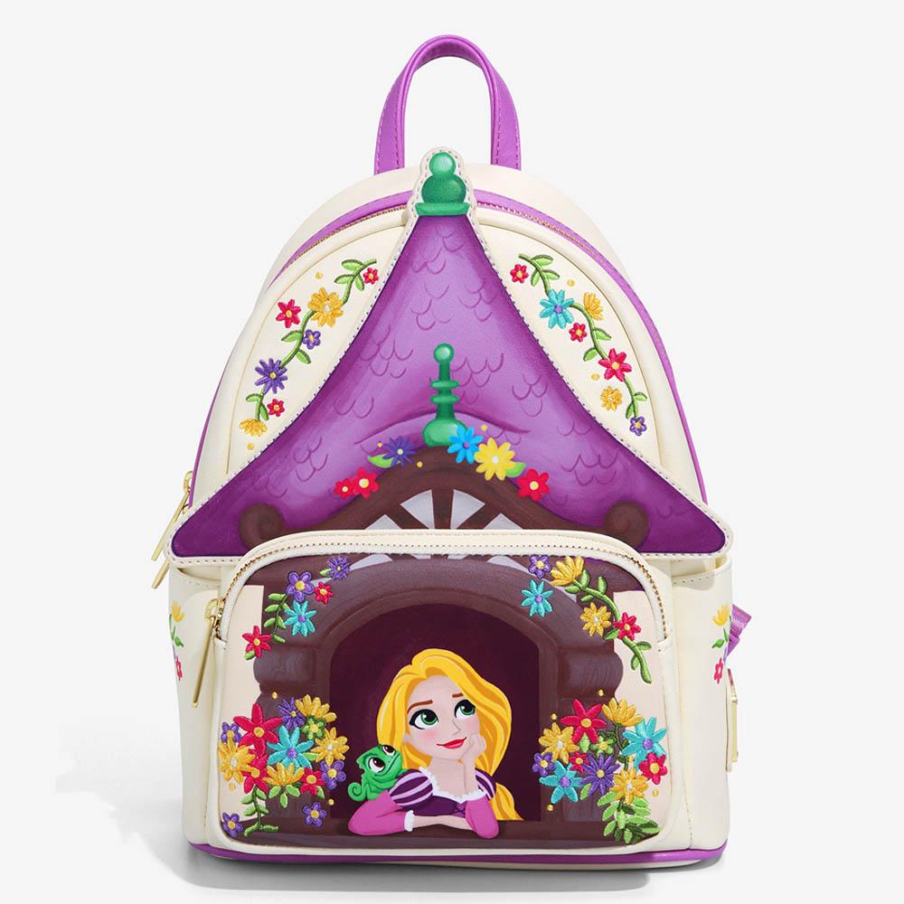 海外モデル 塔の上のラプンツェル グッズ 卸売り ラウンジフライ バックパック バッグ ディズニー Loungefly Tangled 人気急上昇 RapunzelBackpack ガールズ Disney