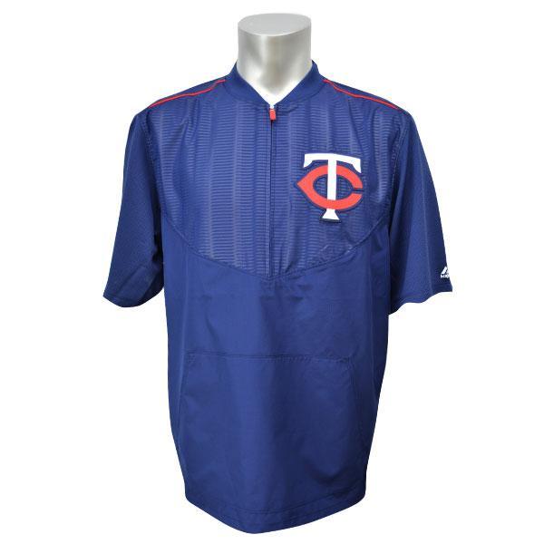 MLB ツインズ ジャケット ネイビー マジェスティック 2015 On-Field ショート Sleeve Training ジャケット