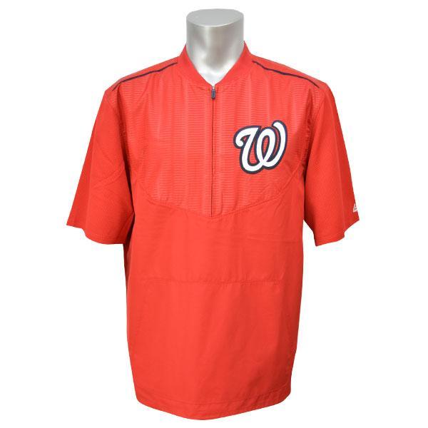 MLB ナショナルズ ジャケット レッド マジェスティック 2015 On-Field ショート Sleeve Training ジャケット