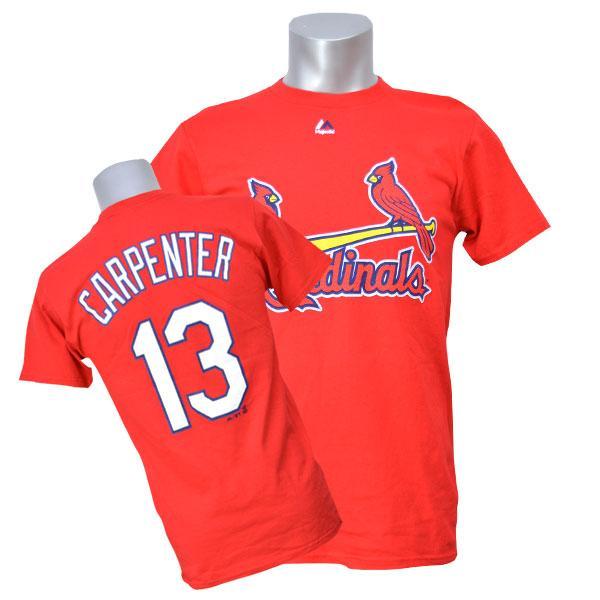MLB カージナルス マット・カーペンター Tシャツ レッド マジェスティック Player Tシャツ【1910価格変更】【1112】