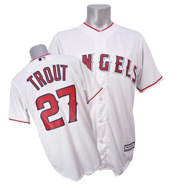 【リニューアル記念メガセール】MLB エンゼルス マイク・トラウト ユニフォーム ホーム Majestic