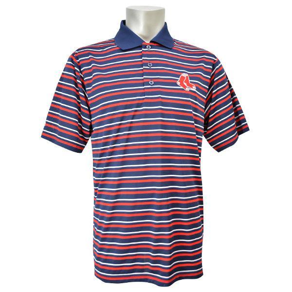 MLB レッドソックス ポロシャツ ネイビー/レッド マジェスティック HOME PLATE HEAT