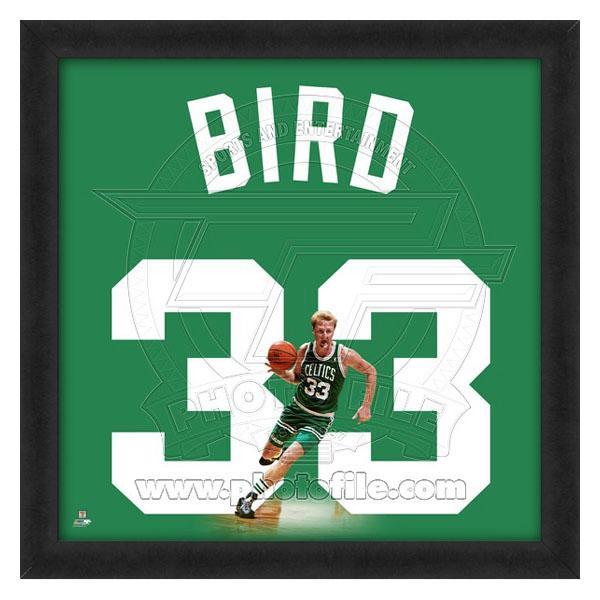 NBA セルティックス ラリー・バード フォト ファイル/Photo File UNIFRAME 20 x 20 Framed Photographic【1910価格変更】