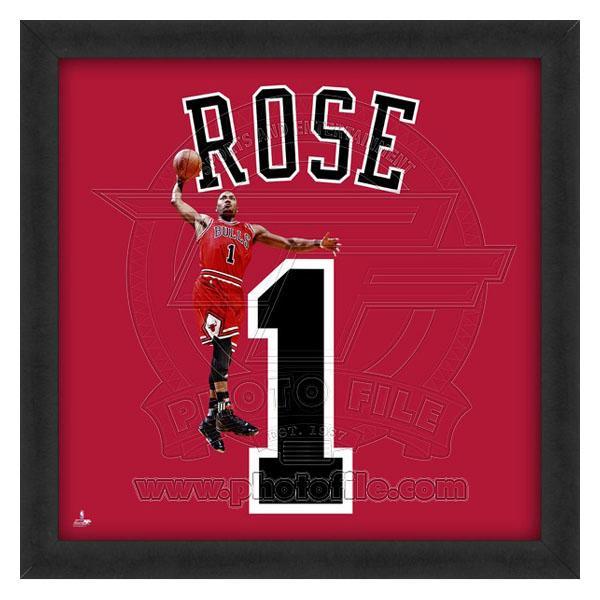お取り寄せ NBA ブルズ デリック・ローズ フォト ファイル/Photo File UNIFRAME 20 x 20 Framed Photographic【1910価格変更】