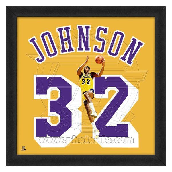 お取り寄せ NBA レイカーズ マジック・ジョンソン フォト ファイル/Photo File UNIFRAME 20 x 20 Framed Photographic【1910価格変更】