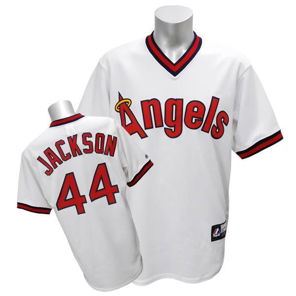 【リニューアル記念メガセール】MLB エンゼルス レジー・ジャクソン ユニフォーム ホワイト Majestic