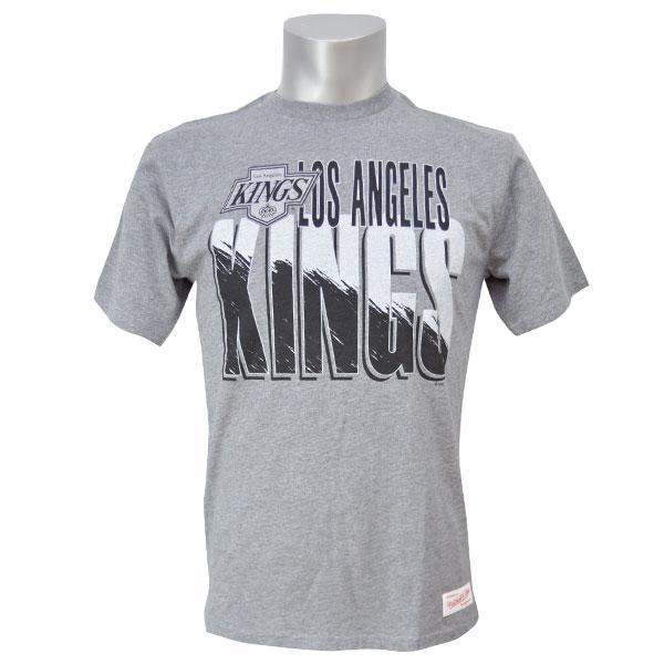 NHL キングス Tシャツ ミッチェル&ネス Split Logo Tailored Tシャツ【1811MNセール】【1910価格変更】