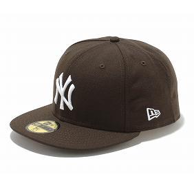 ヤンキース キャップ ニューエラ NEW ERA MLB ブラウン ホワイト 59FIFTY カスタム カラー 【1910価格変更】【191028変更】