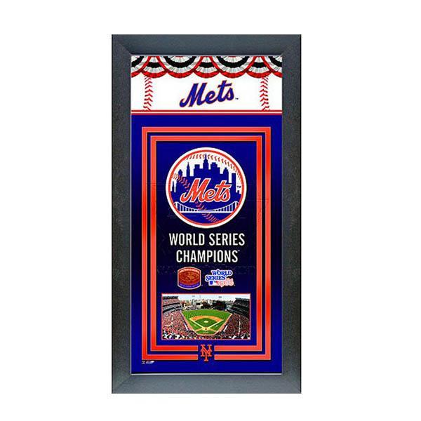MLB メッツ フォト ファイル/Photo File Framed Championship Banner - 14.5 x 27.5【1910価格変更】