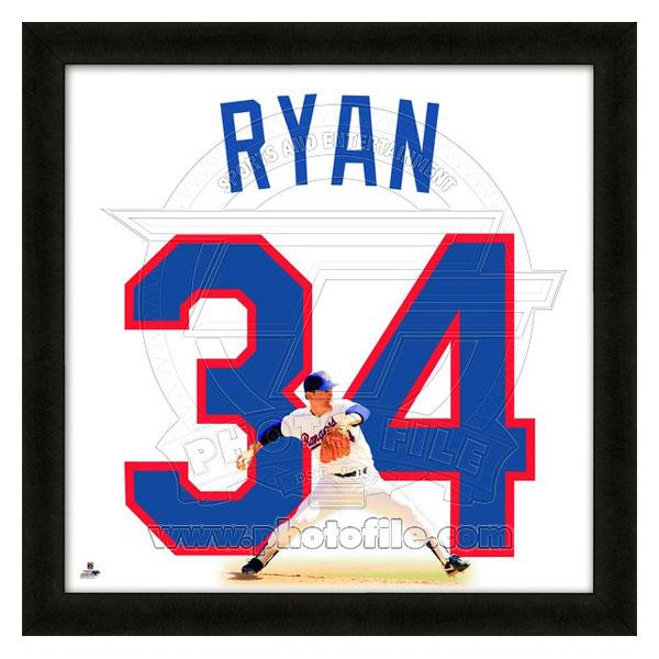 MLB レンジャーズ ノーラン・ライアン フォト ファイル/Photo File UNIFRAME 20 x 20 Framed Photographic【1910価格変更】
