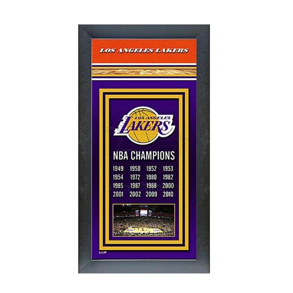 NBA レイカーズ フォト ファイル/Photo File Framed Championship Banner - 14.5 x 27.5【1910価格変更】