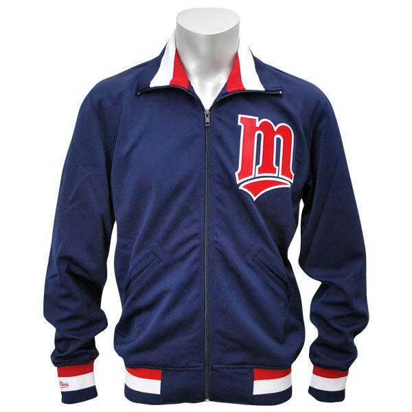 MLB ツインズ ジャケット/スタジャン ネイビー ミッチェル&ネス Authentic BP ジャケット/スタジャン 【1811MNセール】