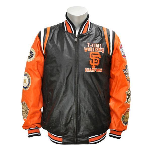 【リニューアル記念メガセール】MLB ジャイアンツ ジャケット/スタジャン ジースリー/G-III Giants 7-Time Champions Leather ジャケット/スタジャン【1810MLB】