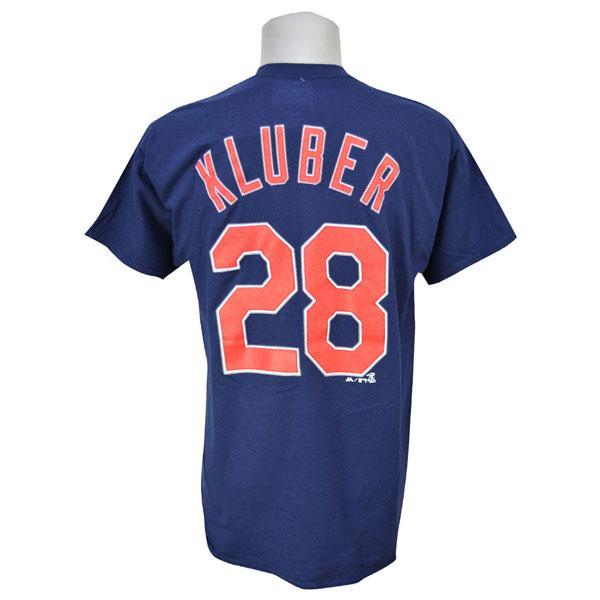 MLB インディアンス コーリー・クルーバー Tシャツ ネイビー マジェスティック Player Tシャツ【1910価格変更】【1112】