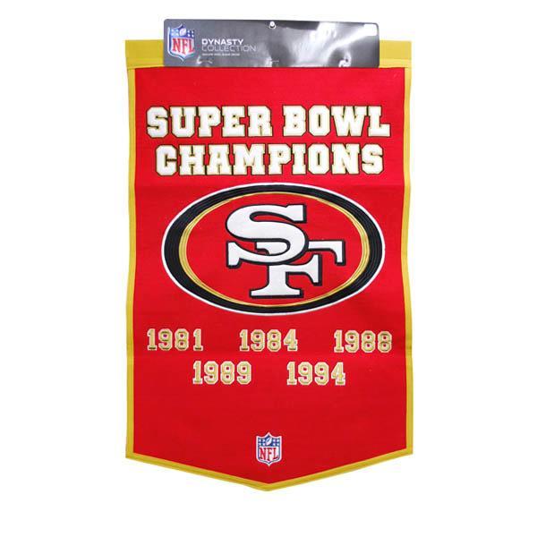 スーパーボウル進出 NFL 49ers バナー ウイニングストリーク/Winning Streak Dynasty Banner 24X38【1910価格変更】
