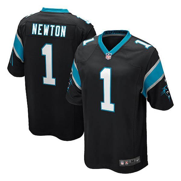 designer fashion f7fa6 7e0f4 -NFL Panthers cam Newton Jersey black Nike /Nike (Game Jersey)