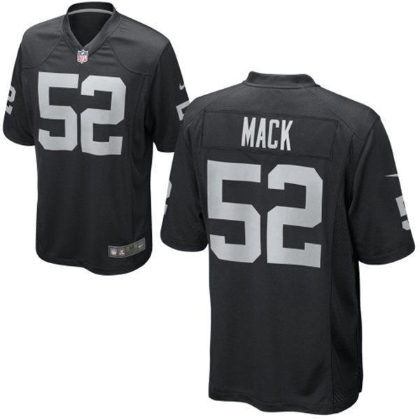 NFL レイダース カリル・マック ユニフォーム ブラック ナイキ Game ユニフォーム