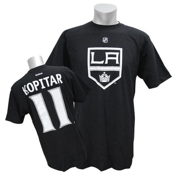 NHL キングス アンジェー・コピター Tシャツ ブラック リーボック Name&Number Tシャツ【1910価格変更】