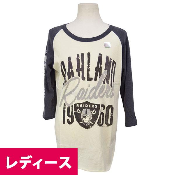 NFL レイダース Tシャツ シュガー/ブラック ジャンクフード/Junkfood Womans ALL-AMERICAN RAGLAN