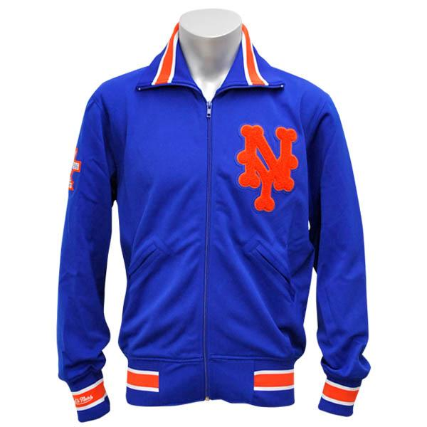 e4d613ce6f5 MLB NBA NFL Goods Shop  MLB New York Mets Authentic BP jacket (blue)  Mitchell amp Ness