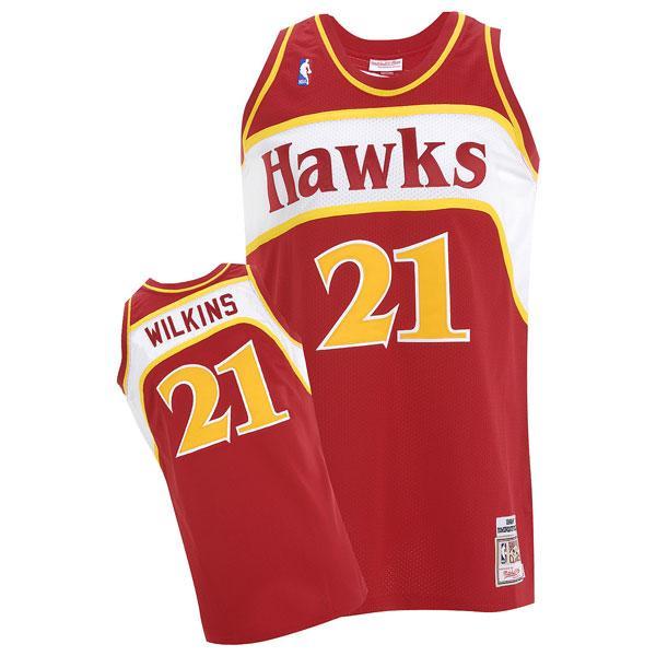 サマーセール NBA ホークス ドミニク・ウィルキンス ユニフォーム 1986-1987/ロード ミッチェル&ネス Throwback Authentic ユニフォーム